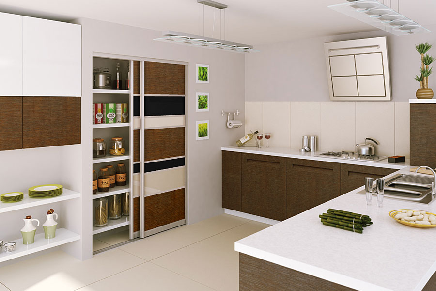 Custom made sliding wardrobe doors and bespoke bedroom for Small kitchen wardrobe