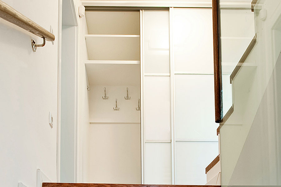 attic space storage ideas - Upgrade your hinged wardrobe doors to superior sliding