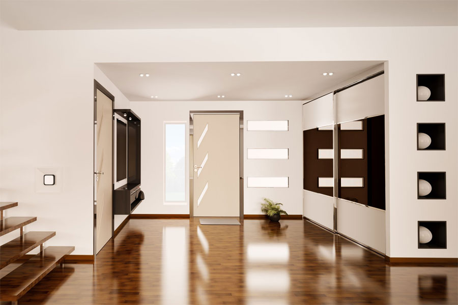 7 desirable interior door design ideas for Sliding wardrobe interior designs