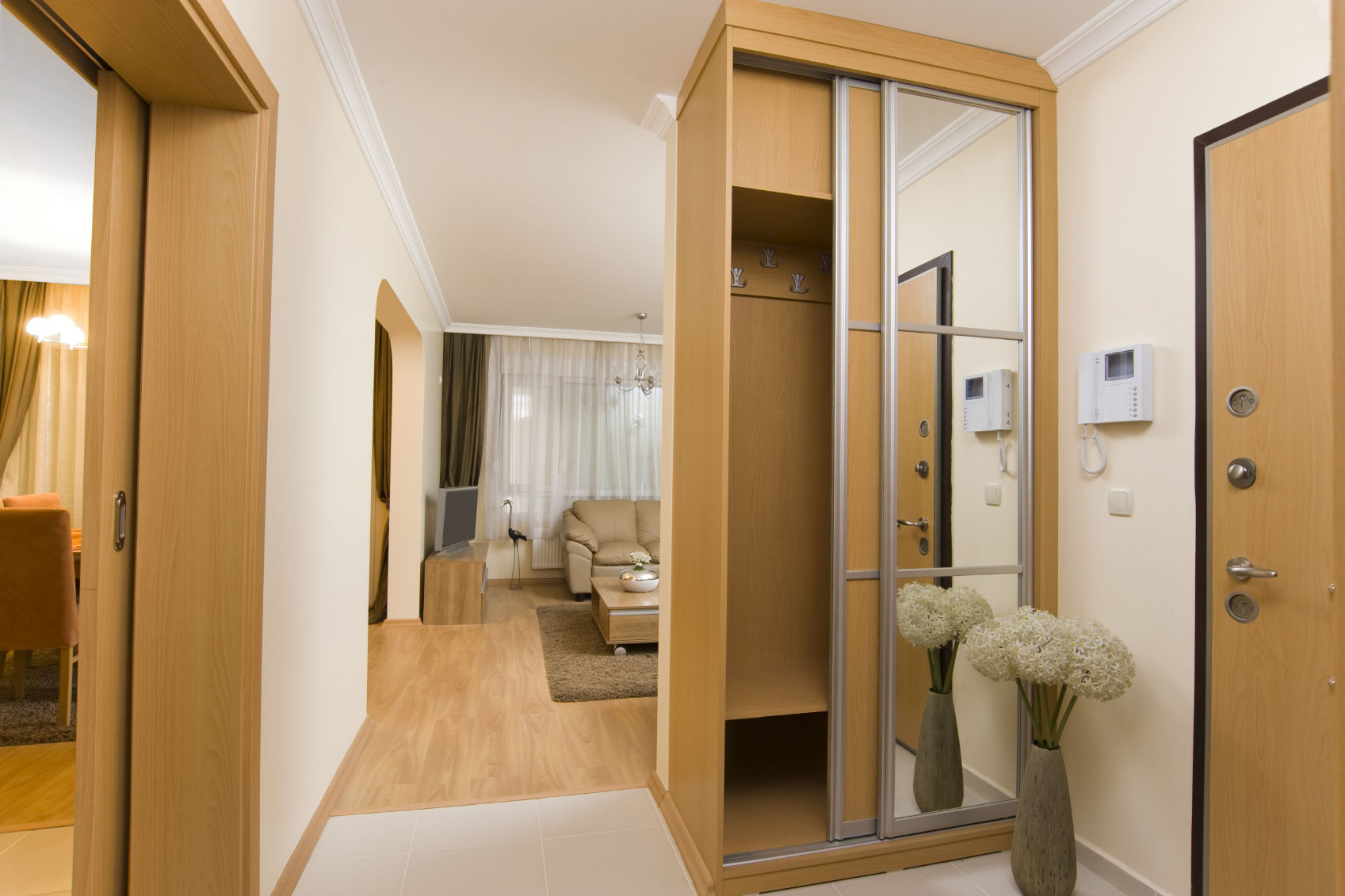 Narrow sliding wardrobe doors