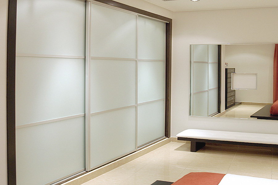 Sliding Wardrobe Doors In White Gloss White Glass And White Matte