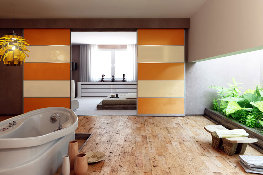 Frame Your Sliding Doors With A Pelmet Image Of Sliding Room Dividers