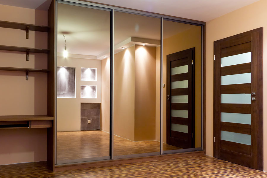 Bronze mirror wardrobes