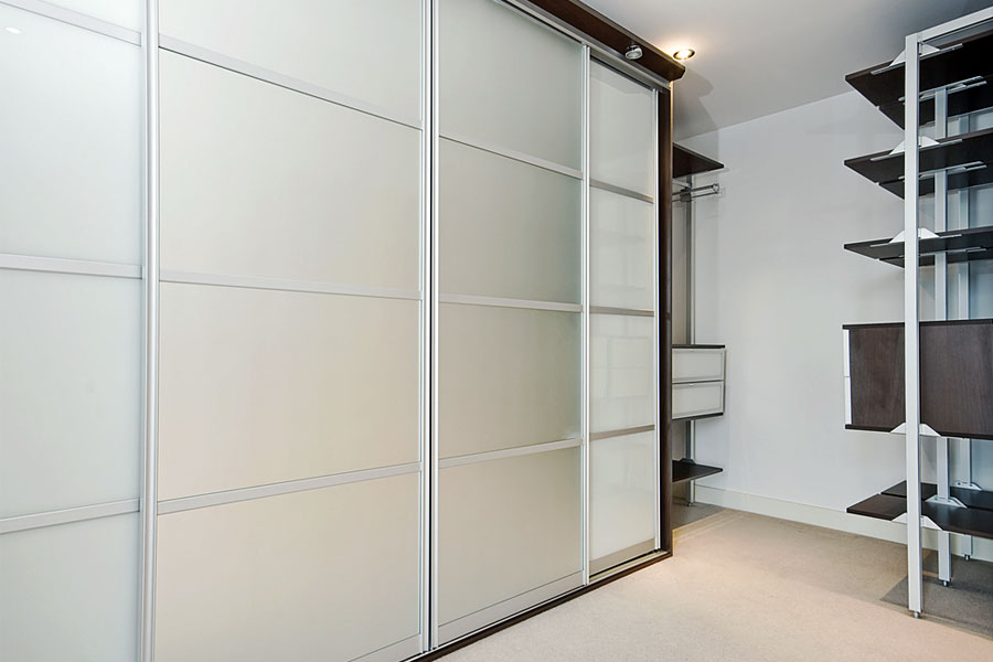 Frosted glass wardrobes
