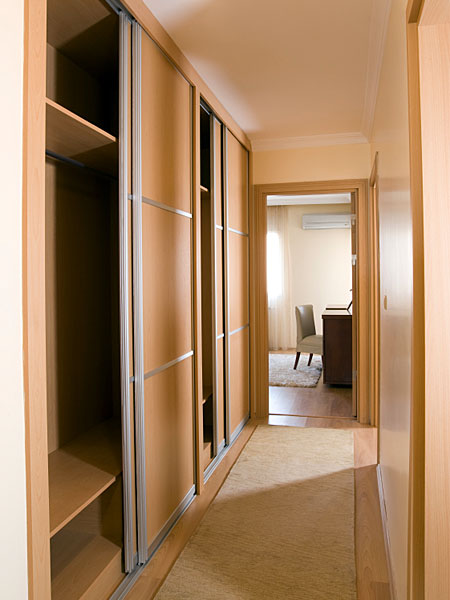 Oak sliding wardrobes