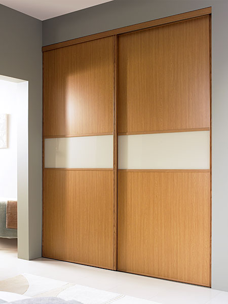Oak white sliding doors