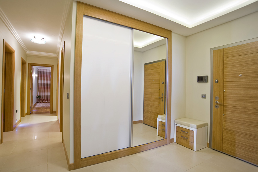 White sliding wardrobes